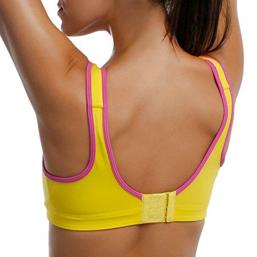 68d1b33dd8c6a La Isla Women s High Impact Wire Free Non Padded Powerful Seam Free Sports  Bra Yellow 42B - Buy Online in Oman.