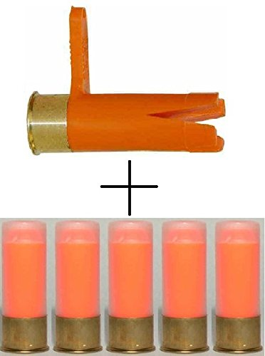 Ultimate Arms Gear 12 GA Gauge PUMP Action Shotgun Empty Chamber Ejectable Safety Flag Load Indicator Orange Dummy Ammunition Ammo Shell Round + ST Action 5 Pack Trainer Rounds