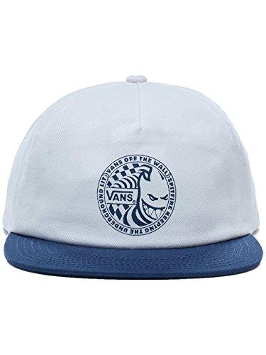 Vans x Spitfire Snapback Hat (White/Dress Blues) Men's Off The Wall Skate - Hat Spitfire
