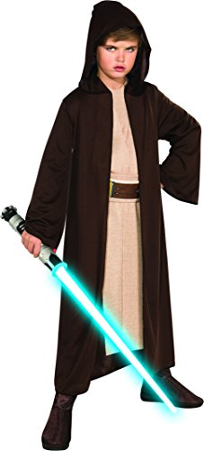 Jedi Costume Girl - Star Wars Child's Hooded Jedi Robe and Lightsaber (Small)