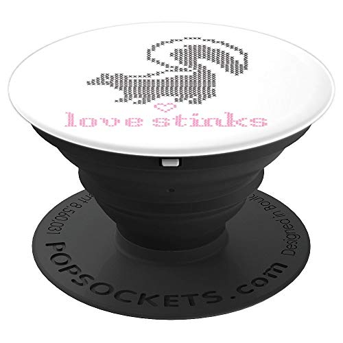 Funny Love Stinks Skunk Valentine's Day - PopSockets Grip and Stand for Phones and Tablets