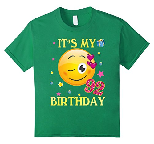 Kids It's My 92nd Birthday Shirt 92 Years Old 92nd Gift For Women 8 Kelly Green (Gifts For 92 Year Old Woman)