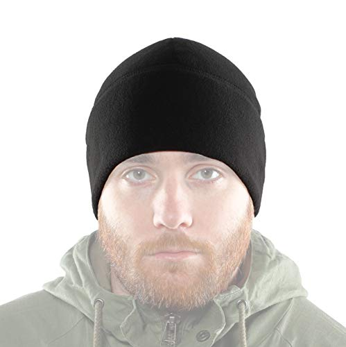 2Sabers Fleece Winter Warm Black Watch Cap - Men&Woman - Army Tactical Skull Beanie Hat, MEDIUM