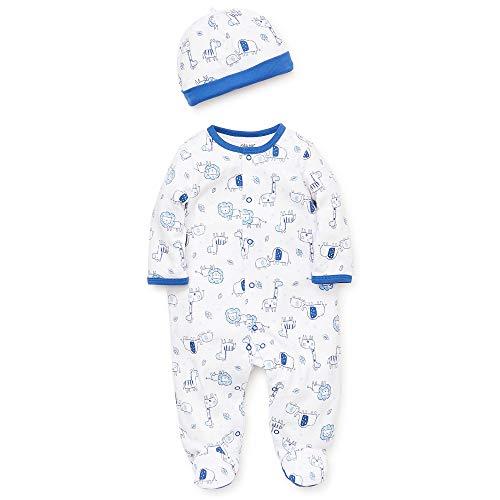 Little Me Blue Safari Footie and Hat - Newborn