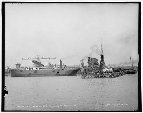INFINITE PHOTOGRAPHS Photo: Docks,Cramps Shipyard,Industry,Boating,Piers,Philadelphia,Pennsylvania,PA,1900