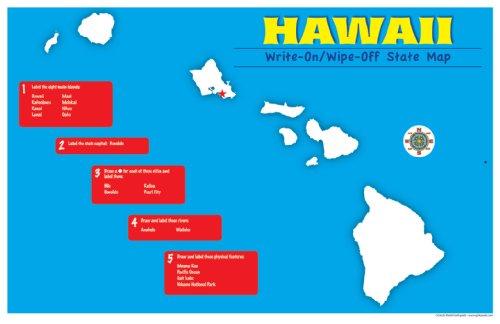 Gallopade Publishing Group Hawaii Write-On/Wipe-Off Desk Mat, State Map (9780635106889)