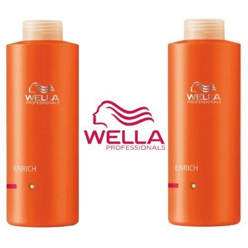 Wella Professionals Enrich Volumising Supersize Duo Shampoo 1000ml & Conditioner 1000ml Fine / Normal hair Wellla