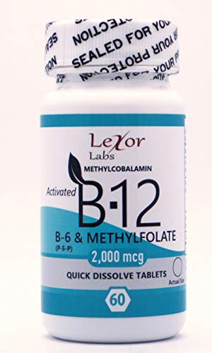 Lexor Labs B-6 (p-5-p) and Methylfolate Quick Dissolve Tablets, Activated B-12 2, 60 Count