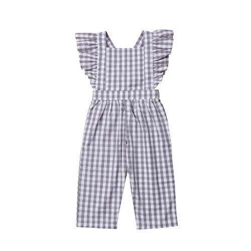 luo man Fashion Cute Newborn Baby Girls Romper Striped Ruffles Jumpsuit Playsuit Overalls Clothes Outfits 24M