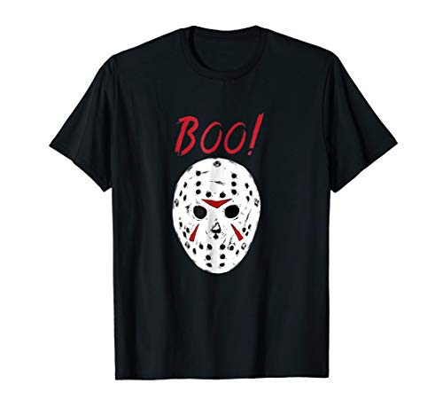 Scary Creepy Boo Shirt Halloween Costume Jason Mask Shirt