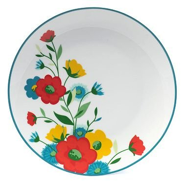 16-Piece Spring Floral Porcelain Dinnerware Set
