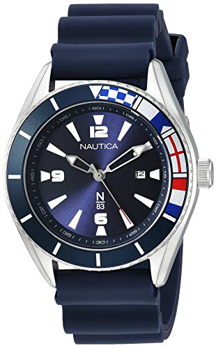 Nautica N83 Men's NAPUSS908 Urban Surf Blue Silicone Strap Watch