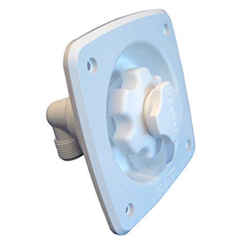 Jabsco Flush Mount Water Pressure Regulator 45psi - White Marine , Boating Equipment