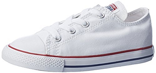 Converse Kid's Chuck Taylor All Star Low Top Shoe, optical white, 12 M US Little Kid