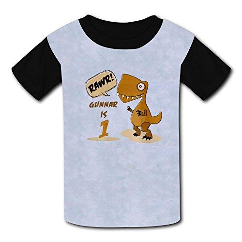 Mmm fight Dinosaur 1St Birthday Light Weight Short Sleeve 2017 The Latest Version for Kidsfree (1st Birthday Postage)