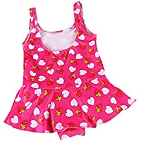SYGA Small Infant Girl's 1 Piece Swimsuit Swimwear Swimming Costume Baby Girls (Colors & Design May Vary)