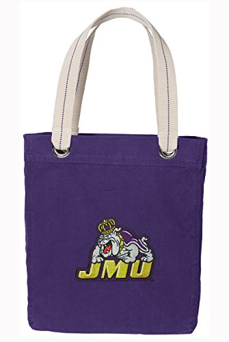 - Broad Bay James Madison University Tote Bag Rich Dye Washed Cotton Canvas