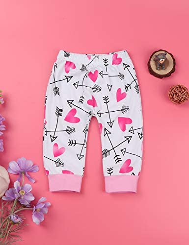 Baby Girl Clothes Summer Cute Letter Romper + Arrow Heart Pants + Headband + Hat Newborn Girls Outfits 4pcs