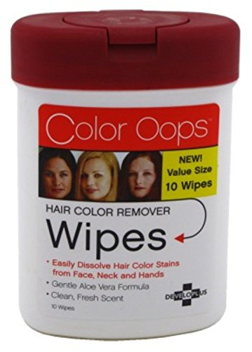 Developlus Color Oops Hair Color Remover Wipes 10'S (6 Pack)
