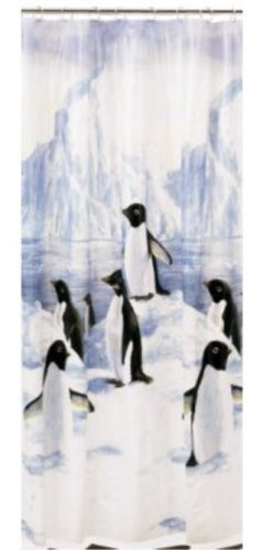 PENGUIN march bathroom of decor SHOWER CURTAIN the bath