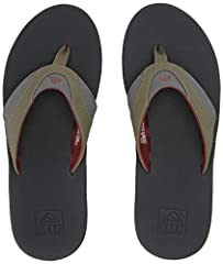 Fanning mens sandals are reef's best-selling flip flops for men with a church key bottle opener built into the rubber outsole. These are the water-friendly mens sandals of legendary three-time world champ and perennial pro surfing powerhouse ...