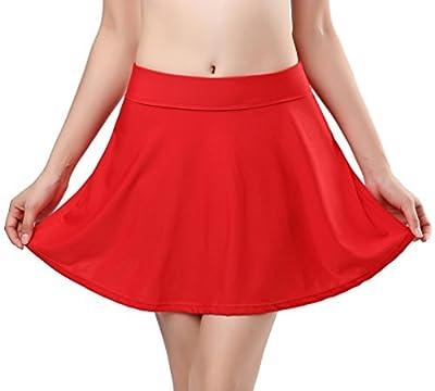 SHEKINI Women's Skirted Bikini Built-In Bottom High Waist Swim Skirt Swimdress Swimsuit