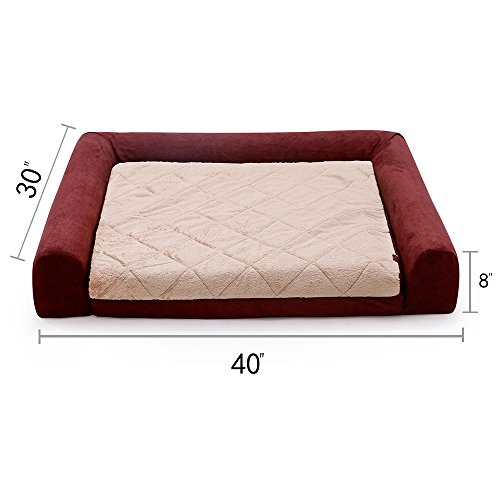 LaiFug-Orthopedic-Memory-Foam-folding-sofa-PetDog-Bed-with-Durable-Water-Proof-Liner-and-Removable-Washable-Cover