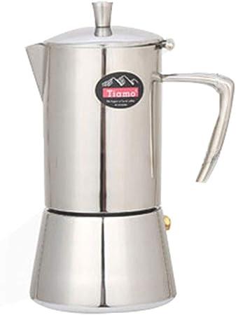 Cafetera de acero inoxidable con colador, 4 tazas, 200 ml: Amazon ...