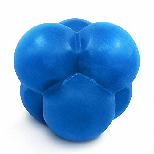 Go Reaction Ball | Amazing Durable Safe Blue Bouncing Rubber Ball with 6 Elastic Knobs | Unpredictable Reflex Agility Hand Eye Coordination Sport Training Exercise on Hard Surface