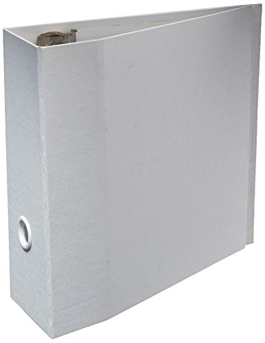 Aurora Recycled D-ring Binder - Aurora GB Elements Storage Binder, 4 Inch D-Ring, 8 1/2 x 11 Inch Size, White, Linen Embossed, Eco-Friendly, Recyclable, Made in USA (AUA08277)