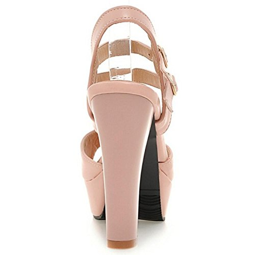 Damenmode Knöchelriemen Coolcept Heel Sandalen High Pink WYTzwqvZ