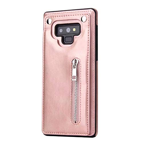 Galaxy Note 9 Wallet Case,Samsung Galaxy Note 9 Card Holder Case,Sunway Shockproof Leather Case with Credit Card Holder Slot Zipper Pocket Wallet for Samsung Galaxy Note 9 6.4
