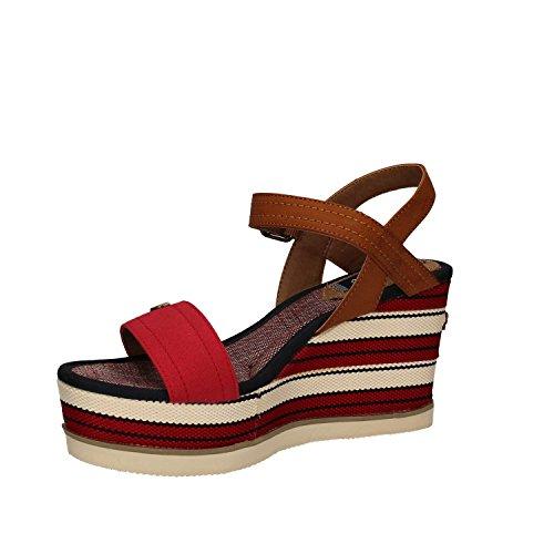 Wrangler WL171661 Sandalias Mujer Tejido Blanco rosso - 87 RED