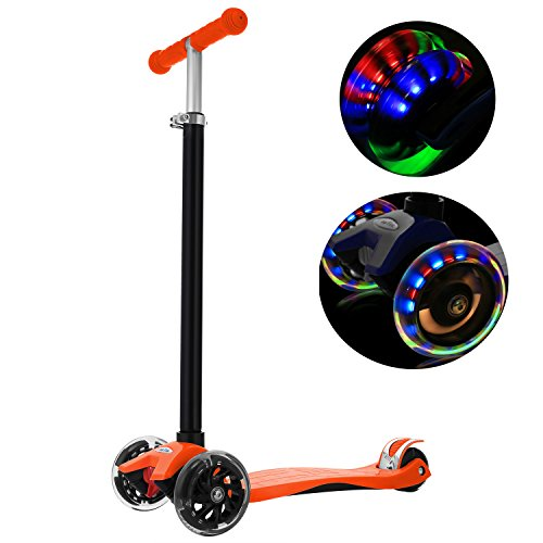 ANCHEER MG1 Kids Scooter for Age 3-12, 3 Wheel Kick Scooter, PU...