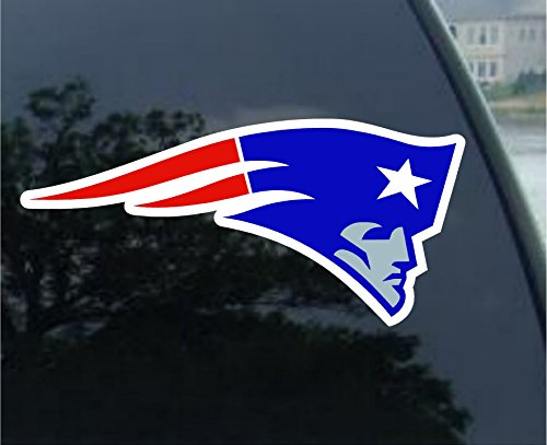 NFL New England Patriots 8-by-8 Inch Diecut Colored (New England Patriots Stickers)