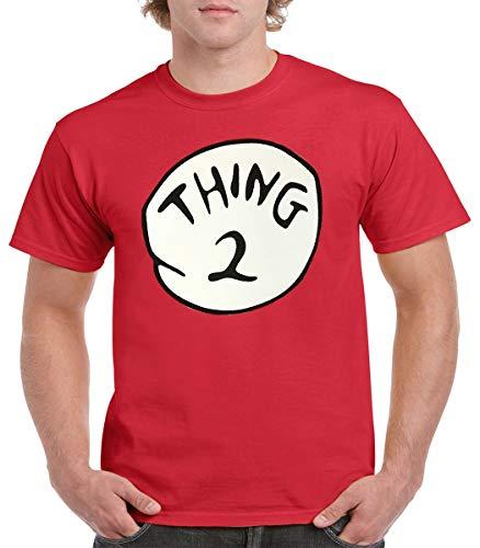 GALITI Thing 1 Thing 2 Adult Shirt - Thing 1-6 Adult Size S - 5XL - Thing 1 Thing 2 Funny Shirt (XL, Thing 2) Red