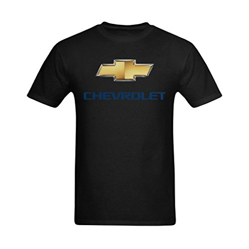 Nehasigo Men's Chevrolet Logo Black Design Tshirt