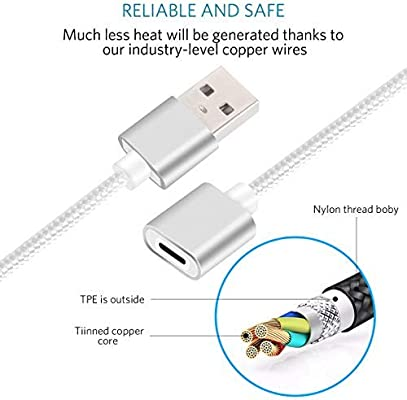 White Female to Male Adapter Extension Cable Charging Adapter Cable for Apple Pencil CoBak Charger Cable for Apple Pencil 3 Feet