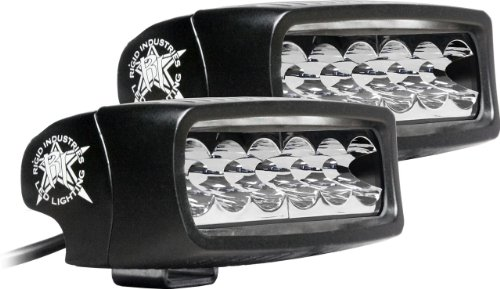 Rigid Industries 91511 SRQ2 White Wide LED Light, (Set of - Hours Valley Center River