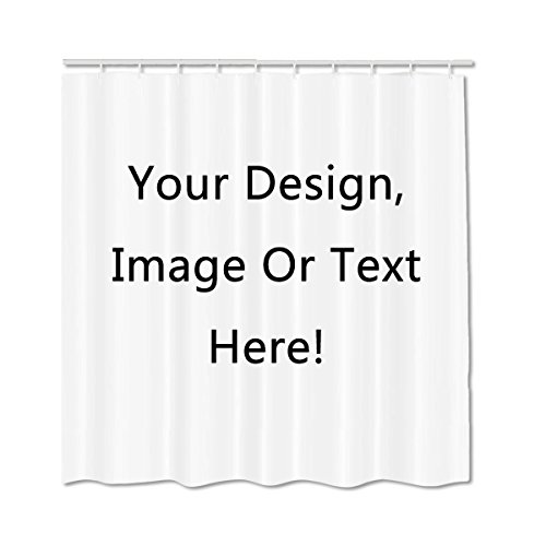 Personalized Mildew Waterproof Polyester Fabric Shower Curtain Customized Services Private Image 60x72Inch