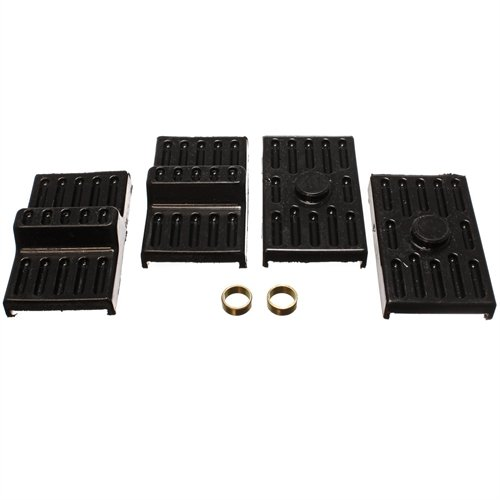 Energy Suspension 3.6111G Leaf Springs - Energy Suspension Leaf Spring Pads Bushings - Leaf Spring Pads - Multi-Leaf - Black - Chevy - Pontiac - Camaro - Firebird - Pair ()