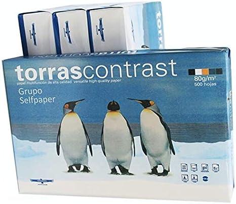 Pack 2x Paquete de 500 Hojas Din A4 80 gr. Folios Papel Blanco Din A4 Torras Contrast. Valido Impresoras tinta, laser, fotocopias, color injet, fax.: Amazon.es: Oficina y papelería