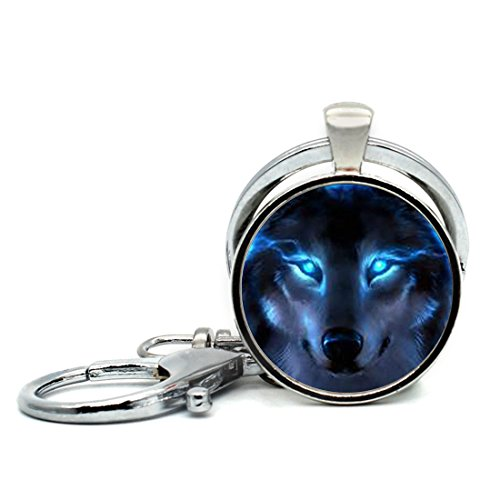 Handmade Keychain Nordic Wiccan Wolf Charm Pendant Car Circle Key Rings Gift Bag Hanging Buckle