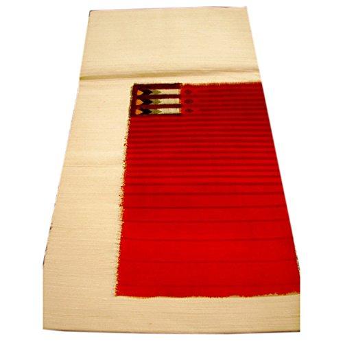 ティッシュ昇る潜む博多着物市場 きものしらゆり 紬 小紋用 八寸かがり なごや帯 正絹