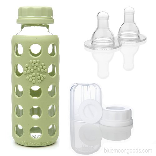 Set Of Lifefactory Glass Bottles And Accessories Baby Feeding
