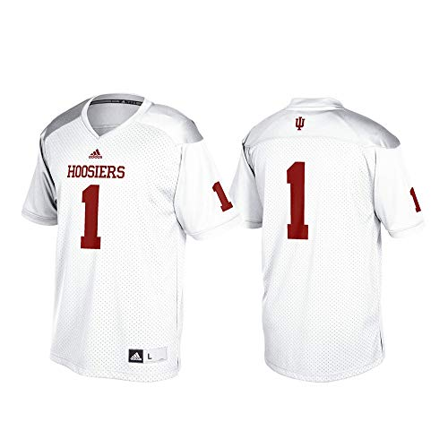 adidas Indiana Hoosiers NCAA Men's White #1 Official Football Replica Jersey (XL)