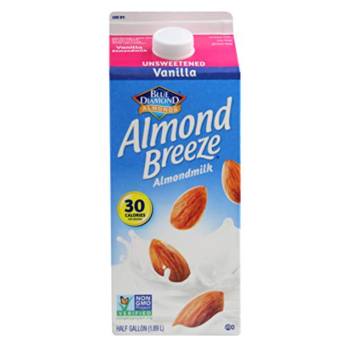 Almond Breeze Unsweetened Vanilla, Almondmilk, 64, fl oz (Almond Milk Baking)