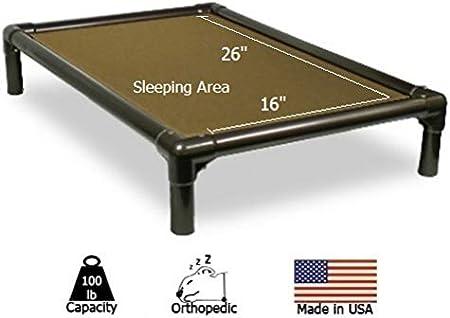 Khaki 30x20 - Cordura Small Kuranda Walnut PVC Chewproof Dog Bed