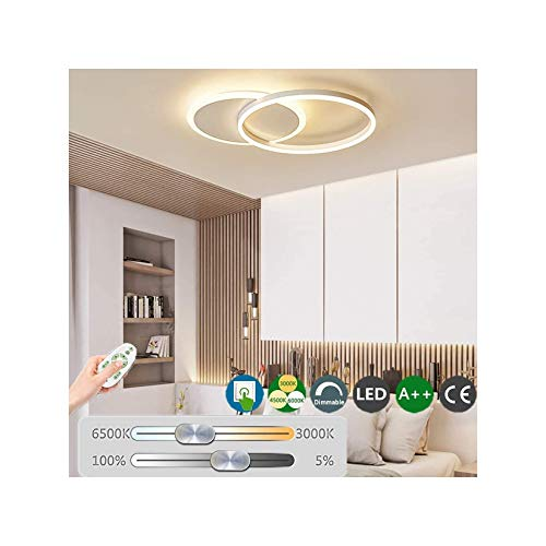 LED Lámpara techo moderna lámpara de sala círculo iluminación de techo interior regulable con control remoto lámpara de…