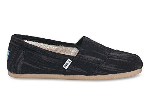 Toms Classics, Alpargatas Black Brushed Woven